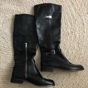 Coach Leather Knee Highs